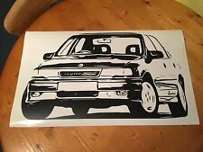 Vauxhall Cavalier GSI Opel Vectra Retro Wall Art Sticker 37.4x 22inch - Free P&P