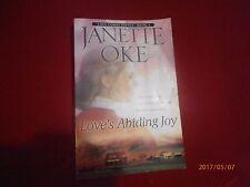 Janette Oke Love's Abiding Joy Book 4 Very Clean inside