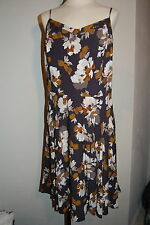 Old Navy floral fit & flare dress. NWOT. Size XL. Gray/white/mustard
