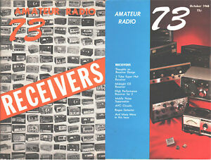 amateur ham radio book 73 MAGAZINE early issues on boat anchor RECEIVERS