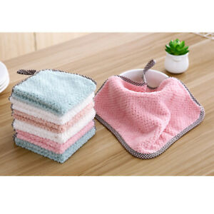 sale Kitchen Towels Double Side Coral Fleece Soft Absorbent Dish Towel Cloth