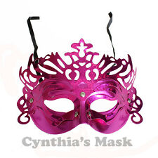 Venetian Fuschia Metallic  Masquerade Mask BZ303A for Party & Display