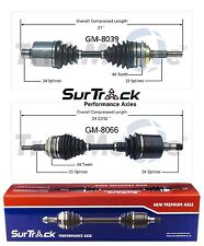 For Chevrolet Cavalier Beretta FWD 2 Front CV Axle Shaft Assies SurTrack Set