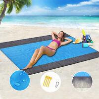 10' X 9' Sand Free Beach Mat Outdoor Picnic Blanket Rug Sandless Mattress Pad
