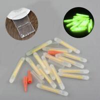 15Pcs Fishing Fluorescent Lightstick Light Clip On Dark Glow Stick Set