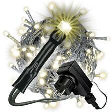 100 LED Lichterkette mit Trafo + Timer 6 Funktionen Fernbedienung warm-weiß Xmas