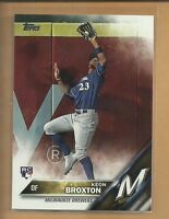 Keon Broxton RC 2016 Topps Update Series Rookie Card # US108 Milwaukee Brewers