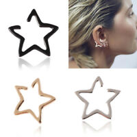 1 Pcs Alloy Ear Cuff Stud Ear Clip Women's Punk Wrap Cartilage Earrings Jewelry