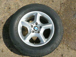 "GENUINE BMW X5 E53 ALLOY WHEEL 17"" 5x120 1096159-13 GOOD MICHELN TYRE 235 65 17"