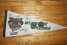 Winnipeg Cyclone 1997-98 IBA Basketball Pennant Banner Flag Autograph Signature
