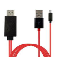 For Android Cell Phone Micro USB To HDMI 1080P HD TV Cable Wire Cord Adapter