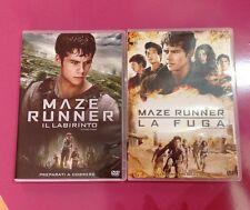Maze runner Il Labirinto e Maze Runner la fuga 2 DVD DYLAN O BRIEN