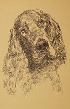 Gordon Setter Dog Art Print #26 Kline Magic Drawing Your Dogs Name Added Free