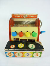 Vintage Fisher-Price Boys & Girls Toy Cash Register #972