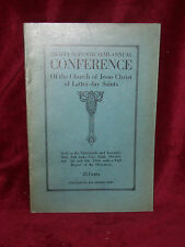 LDS Conference Report of October 1916 Mormon Book   EXCELLENT