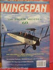 WINGSPAN PLANES OCTOBER 1991 # 80 CLACTON AERO CLUB TIGER MOTH TYPHOON BOOMERANG
