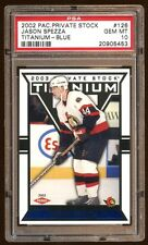 POP 2 PSA 10 JASON SPEZZA 2002 PRIVATE STOCK RC /450 TITANIUM BLUE  SUPER RARE