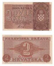 Croazia - 2 Kuna Banconota (1942) seleziona RIF: 8-unc.