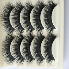 5 pairs /Set Black Thick Cross False Eyelashes eye lashes Long makeup Beauty Hot