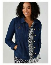 Nina Leonard Long Sleeve Stretch Denim Jacket Blue XL RRP £49