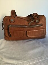 LADIES TAN LEATHER FOSSIL SHOULDER BAG