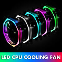 120mm CPU Cooler Cooling  Intel LED 8 Damping Pads Lower Noise Heatsink  NEW