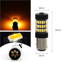2x High Power 1157 Dual-Color Switchback White/Amber LED Signal Bulbs 60SMD 4014