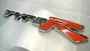 Type R Badge Chrome Self Adhesive