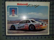 1986 Ford Motorcraft Merkur XR4Ti Racing Sheet Brochure