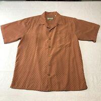 Pusser's Mens Shirt 100% Silk Island Style Size Medium