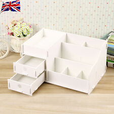 DIY Wooden Desk Organier Small Objests Cosmetics Storage Box With two drawer 12