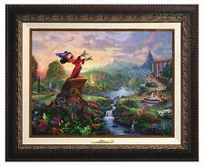 Thomas Kinkade -Disney's Fantasia – Canvas Classic (Aged Bronze Frame)