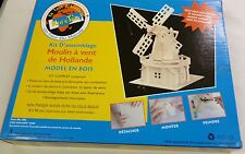 Sun Mate Dutch Windmill Wooden Model Kit Puzzle Snap Together