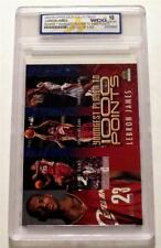 UPPER DECK LEBRON JAMES YOUNGEST PLAYER TO 1000 POINTS ROOKIE CARD GEM MINT 10