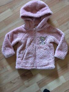 Kinderkleidung Gr. 110 Eiskönigin Elsa Stoffjacke Plüschjacke Sommerjacke rosa