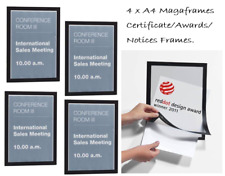 Durable Magnetic Duraframe A4 Black {Pack of 4 }Awards  Certificates