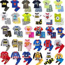 Kids Girls Boys Clothes Long/Short Sleeves Toddler Sleepwear Pj's Pyjamas Set