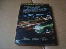 The Fast and the Furious TRILOGY DVD SteelBook NEW&SEALED Paul Walker Vin Diesel