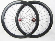 20.5mm width 50mm clincher full carbon fiber road bike wheelset UD matte finish