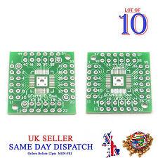10x 2 côté PCB QFN48 pour QFN44 5 mm pin côté Adaptateur Board IC Plaque