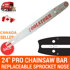 """24"""" PRO CHAINSAW BAR REPLACEABLE SPROCKET NOSE 3/8"""" 0.058"""" 84DL FOR HUSQVARNA"""