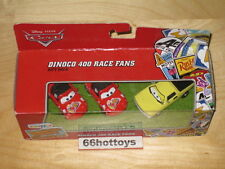 Disney Pixar Cars Dinoco 400 Race Fans Jay W. Mia & Tia 2012 NEW