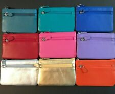 ILI Genuine Leather Card/Coin/Key Purse With RFID In 9 Colors