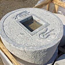 "18"" Japanese coin basin Zen stone carving lantern water fountain"