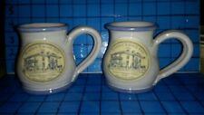 Pair Deneen Pottery Hand Thrown Coffee Mug Sampson Eagon Inn Virginia Staunton