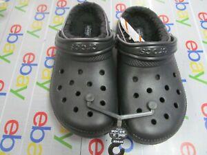 Crocs Classic Lined Clog Unisex Women's8 Mens 6 Black Roomy Fit Shoe