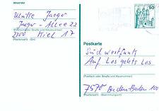 1979 PRE PAID PLAIN POSTCARD CANCELLED KIEL WEEK GERMANY