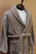 Pottery Barn Brown Soft Plush Warm Cozy Belted Long Bath Robe Size Small