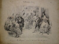 GRANDVILLE 1803-1847 Litho CARICATURE MODE BOURGEOISIE MAYEUX LOUIS PHILIPPE