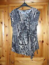 Ladies Sleeveless Animal Print Top/Tunic.  size 14.  BNWT. Round Neck.